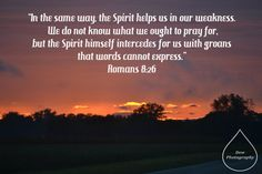 The Spirit is praying for us!