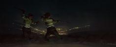 "knightofleo: "" "" Jaime Ospina duelo a machetazos calle negra the bride full moon i preach fire perros de las tumbas is coming bureaucrat dmt fight "" more art by Jaime Ospina """