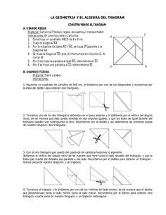 La geometria y el algebra del tangram