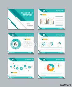 Vector: business presentation template set.powerpoint template design backgrounds