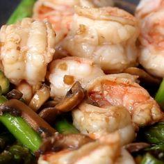 Featuring Garlic Broccoli Shrimp Stir Fry, Ginger Mushroom Shrimp Stir-fry, Red Chili Shrimp Stir-fry and Carrot Sesame Shrimp Stir-fry Shrimp Stuffed Mushrooms, Asparagus And Mushrooms, Shrimp And Asparagus, Stuffed Peppers, Shrimp Mushroom, Asparagus Stir Fry, Garlic Broccoli, Shrimp Stir Fry, Shrimp Wonton