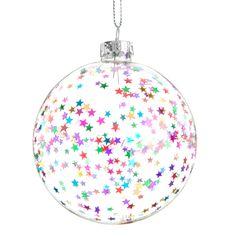 Bola de Navidad estrellas de colores   - Vendido por 6