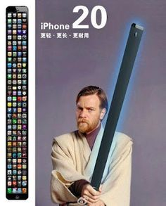 Behold, the iPhone 20... The best is yet to come ...and its Jedi approved!