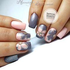 Fall Nail Designs - My Cool Nail Designs Nail Tip Designs, Cute Nail Art Designs, Manicure, Flower Nails, Stylish Nails, Perfect Nails, Winter Nails, Toe Nails, Nails Inspiration