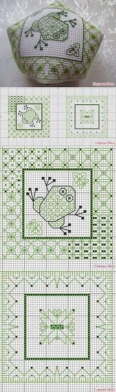 Cutie frog! #crossstitch