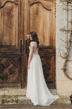 Beautiful French wedding dress | And Then We Got Married