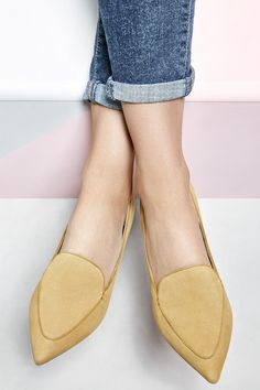 Yellow suede smoking slippers   Sole Society Cammila