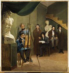 attribué à Auguste-Xavier Leprince (1799-1826) | Le Peintre dans son atelier