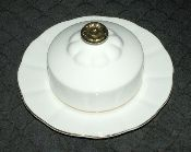 Royal Albert Val DOr Round Covered Butter Dish