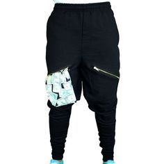 ChachiMomma Pants Black Black ($60) ❤ liked on Polyvore featuring pants, calças, sport, sports pants and sport pants