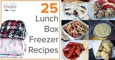 25 Lunch Box Freezer Recipes