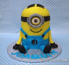 Tarta Minion Stuart - Minion Stuart cake - Minion cake - Minions - Birthday cake