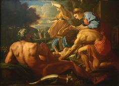 Nicolas Poussin 1593/94 – 1665  Moses abandoned oil on canvas (144 × 196 cm) — 1628-29 Gemäldegalerie Alte Meister, Dresden