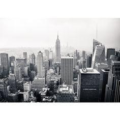 "Foto behang ""Manhatten skyline new york 2"" vliesbehang 300x210cm of 400x280cm"