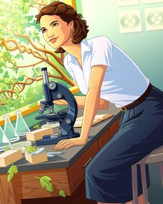 Rosalind Franklin was a British Jewish chemist who made a crucial contribution to the discovery of the double helix structure in DNA. Biology Art, Biology Drawing, Dna Technology, Medical Laboratory Science, Microbiology, Science Art, Birthday Wishes, Art Girl, Art Prints