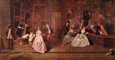 Antoine Watteau / L'Enseigne de Gersaint / 1720 / doek / 163 x 308 cm