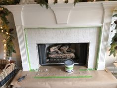 How to Add Herringbone Marble Tile to a Fireplace - Southern Hospitality Tile Around Fireplace, Concrete Fireplace, Precast Concrete, Marble Fireplaces, Fireplace Surrounds, Fireplace Ideas, Marble Tiles, Marble Top, Southern Belle Secrets