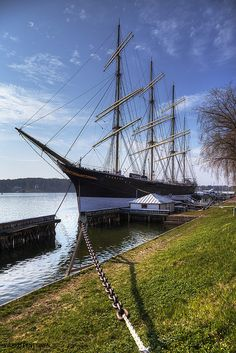 """Four-masted barque """"Pommern"""" at Maarianhamn, Aland Cool Boats, Boat Design, Baltic Sea, Power Boats, Tall Ships, Archipelago, Beautiful Islands, Travel Posters, Great Places"""