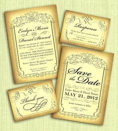 Unas lindas invitaciones clasicas