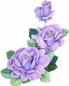 pattern for Bauernmalerei Beautiful Flower Drawings, Beautiful Rose Flowers, Rose Flower Wallpaper, Love Wallpaper, Watercolor Flowers Tutorial, Purple Roses, Botanical Prints, Trees To Plant, Flower Art
