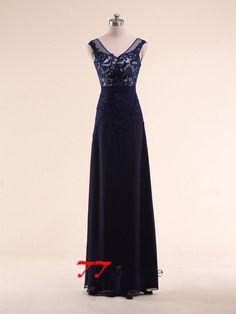 Eleganta långa aftonklänningar mor till brud klänningar