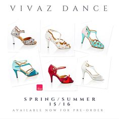Vivaz Dance Spring/Summer 2015/16 new collection  #danceshoes #latindance #salsa #bachata #fashiondance  http://www.vivazdance.com.au/dance-shoes/just-landed.html