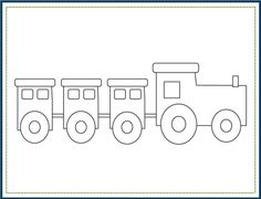 Choo Choo Train Birthday Party PRINTABLE Color Worksheet by Love The Day