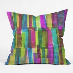 Sarah Bagshaw Printed Stripes Throw Pillow | DENY Designs Home Accessories
