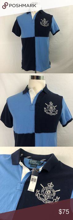 """Polo Ralph Lauren Polo Rugby Shirt Mens M Athletic Brand: Polo Ralph Lauren - Athletic Division   Detail: This is a Brand New Polo Ralph Lauren Athletic Division Men's Polo Shirt. Unique ColorBlock Design with a Large Embroidered Polo Ralph Lauren Logo on the chest. Retail Price $98.  Condition: This item is in Brand New with Tags!  Material: 100% Cotton   Size: Medium - Custom Fit Measurements: Chest: 21"""" Shoulder: 18"""" Sleeve: 7.5"""" Length: 28.5"""" 💥Top Rated Seller! 💥Suggested User!  💥10%…"""