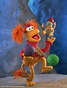 Fraggle Rock  LOVE THIS SHOW!!! I actually opened a radio to see if fraggle rocks were inside. Lol