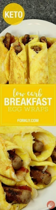 Low Carb Breakfast Egg Wraps : The high fat keto / ketogenic recipe that will have your breakfasts perfectly planned for a week. Freezer friendly!