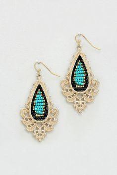 Charlie earrings in turquoise @Emma Stine Limited