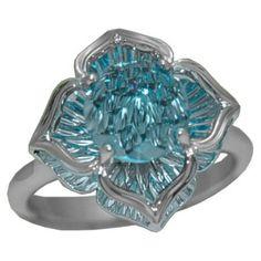 Blue Topaz Ring (DaVinchi Cut) in 14 kw https://www.goldinart.com/shop/rings/colored-gemstone-rings/blue-topaz-ring-davinchi-cut