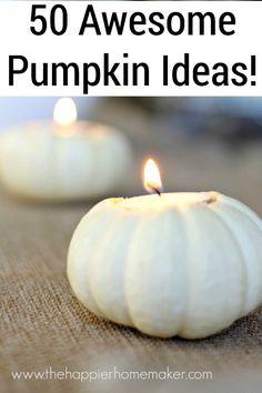 over 50 ideas for pumpkins!