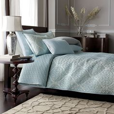 Legends® Monaco Coverlet with blue and green paisley medallions on white from The Company Store--master bedroom redo Sea Bedrooms, Neutral Bedrooms, Master Bedroom Redo, Home Bedroom, Bedroom Ideas, Beach Room, Shabby Chic Cottage, Bed Spreads, Decoration
