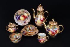 Miniature tea set Crown Worcester