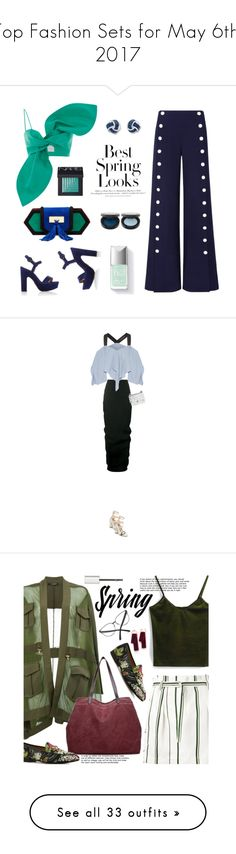 """""""Top Fashion Sets for May 6th, 2017"""" by polyvore ❤ liked on Polyvore featuring Tory Burch, Balmain, H&M, NARS Cosmetics, Rick Owens, Roland Mouret, Fendi, Gucci, 3.1 Phillip Lim and Givenchy"""