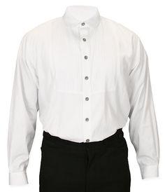 Sinclair+Edwardian+Club+Collar+Shirt+-+White