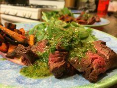 Hanger Steak w/ Orange-Oregano Chimichurri
