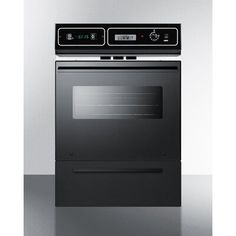 Complete your kitchen set with the Summit Gas Wall Oven-Black and its smart design and style. Gas Wall Oven, Electric Wall Oven, Wall Ovens, Kitchen Store, Kitchen Sets, Single Wall Oven, Chrome Handles, Cooking Equipment, Fireplace Accessories
