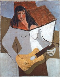 Woman with a Guitar - Juan Gris - The Athenaeum Spanish Painters, Spanish Artists, Synthetic Cubism, Picasso And Braque, Pop Art, Francis Picabia, Georges Braque, Portraits, Art Walk