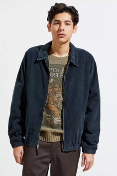 Retro Outfits, Cute Outfits, 90s Inspired Outfits, Clothing Packaging, Harrington Jacket, Skater Style, Men Street, Urban Outfitters Tops, Mens Clothing Styles