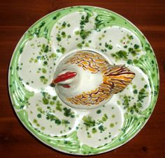 Antique egg plate