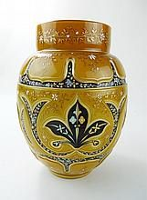 Antique European Art Glass Vase WWW.JJAMESAUCTIONS.COM