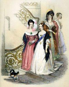 Queen Victoria with her beloved King Charles Cavalier Spaniel, Dash.