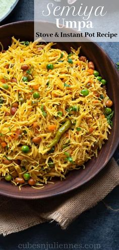 Semiya Upma also known as vermicelli upma is a delicious and healthy one pot vegan South Indian breakfast dish Make it either plain or toss it with your choice of vegetables Check out this dish and many more at Cubes N Kitchen Recipes, Baby Food Recipes, Indian Food Recipes, Asian Recipes, Cooking Recipes, Indian Snacks, Snacks Recipes, Cooking Food, Free Recipes