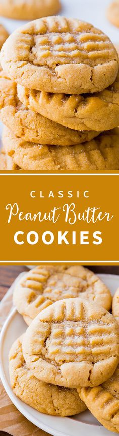 The BEST peanut butter cookies! Soft and chewy with tons of peanut butter flavor. Criss cross peanut butter cookies recipe on sallysbakingaddiction.com