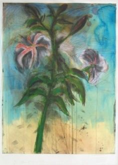 Jim Dine / found on www.kunzt.gallery / The Sky and Lilies, 1998 / Intaglio