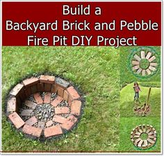 Build A Backyard Brick and Pebble Fire Pit DIY Project Homesteading  - The Homestead Survival .Com