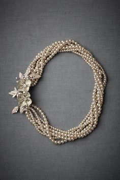 pearls and flower necklace
